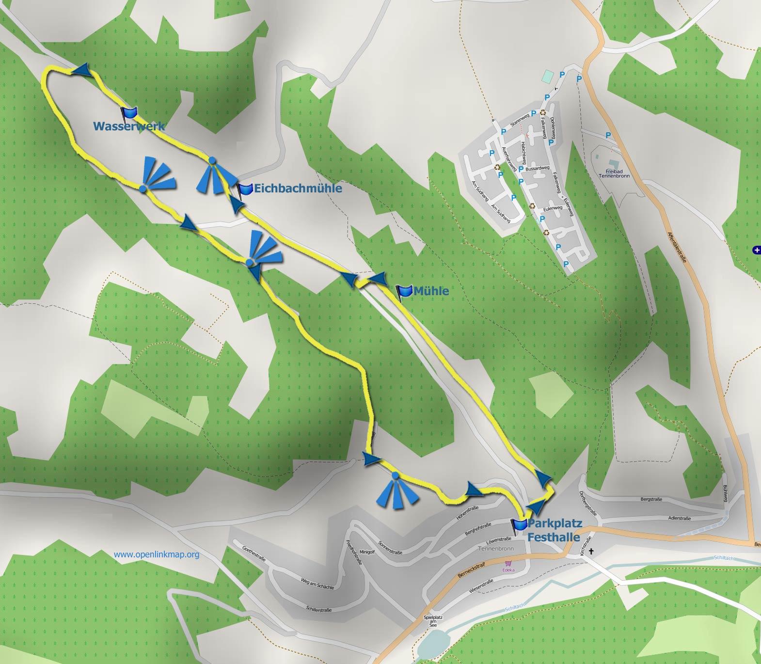 Karte Eichbachrunde