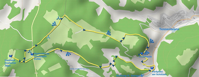 Wandern Karte Windkapf-Runde