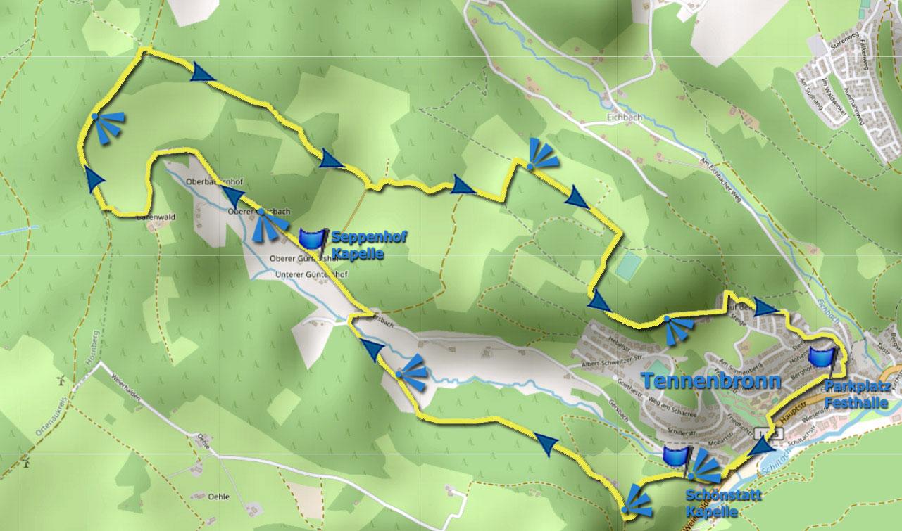 Karte Gersbachrunde