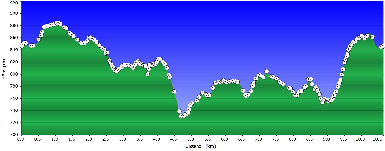 Profil Track Falkenhöhe - Apfelfelsen - Bremenloch