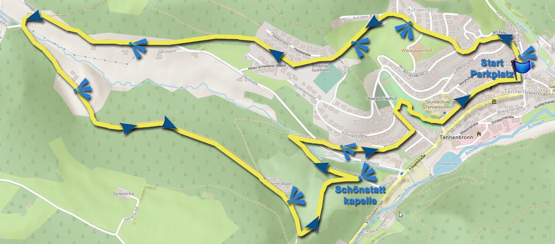 Karte kleine Gersbachrunde